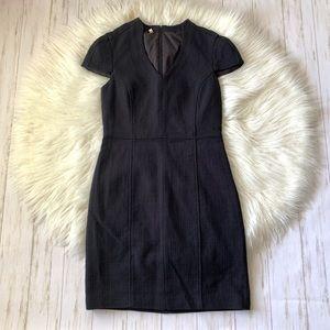 Anthropologie 4C Black Tweed Cotton Sheath Dress